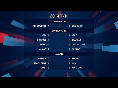 Тинькофф Российская Премьер-Лига. Обзор 20-го тура