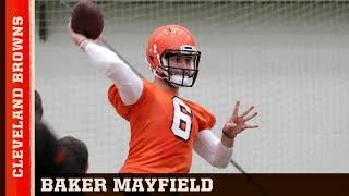Baker Mayfield's Leadership at Cleveland Browns Rookie Minicamp   NFL Network Review
