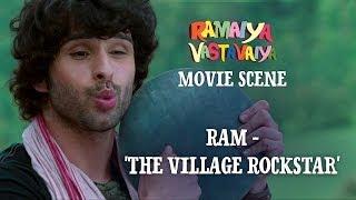 Ram - 'The Village Rockstar'  - Ramaiya Vastavaiya Scene - Girish Kumar