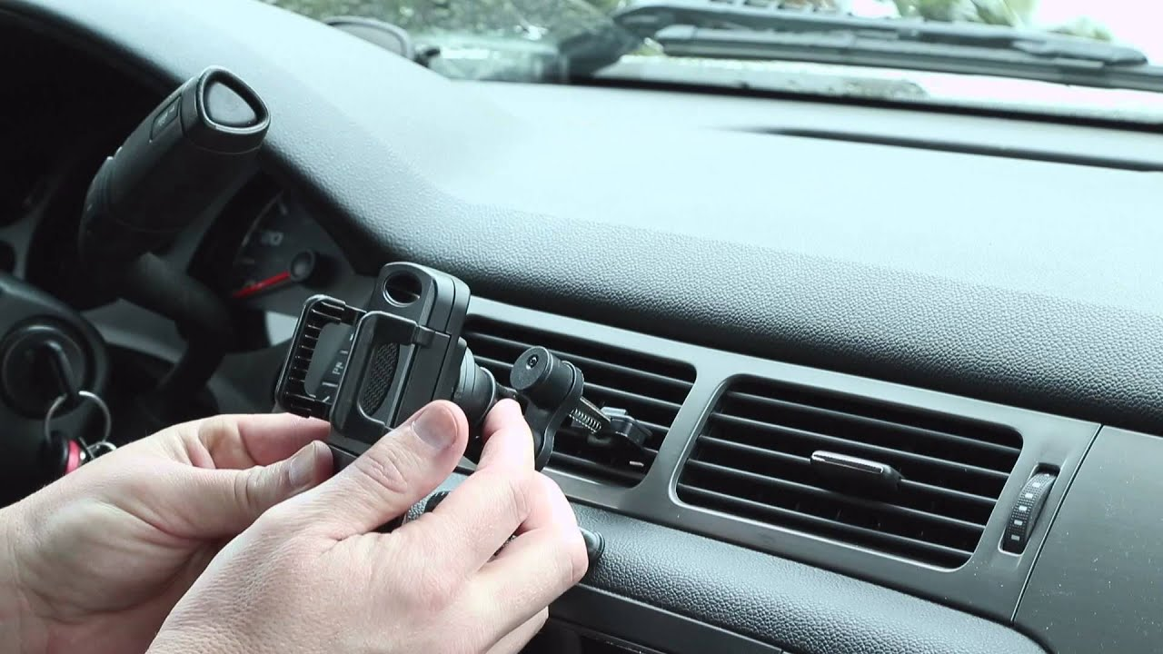 8fc728653eff9e Air Vent Cell Phone Holder by CommuteMate - YouTube