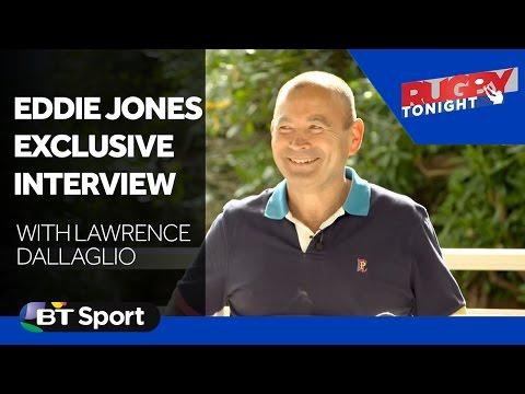 Lawrence Dallaglio meets England head coach Eddie Jones
