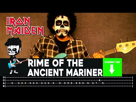 Iron Maiden - Rime Of The Ancient Mariner (Bass Cover by Cesar Dotti W/Tab)