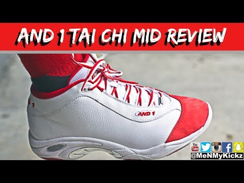 And 1 Tai Chi Mid (Red/White) Review + On Foot · Sizing
