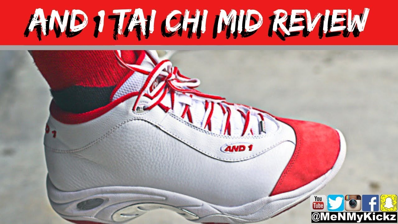 best loved a9a04 6cf27 And 1 Tai Chi Mid (Red White) Review + On Foot · Sizing Chart Fit ...