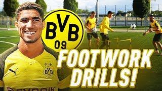 Training with Dortmund player Achraf Hakimi