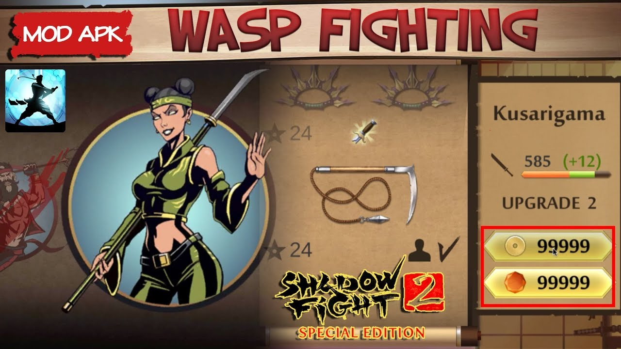 Shadow Fight 2 Special Edition Mod || Wasp Fighting Easy ??? Android Gameplay