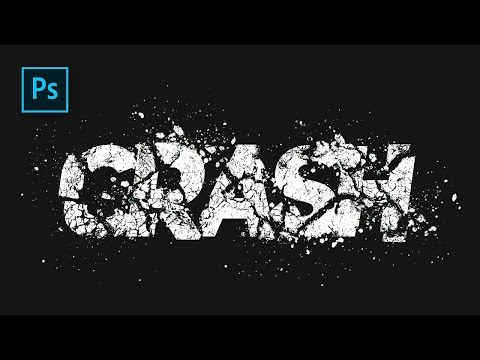 How To Create Broke Text Effect In Photoshop - #Photoshop Tutorials