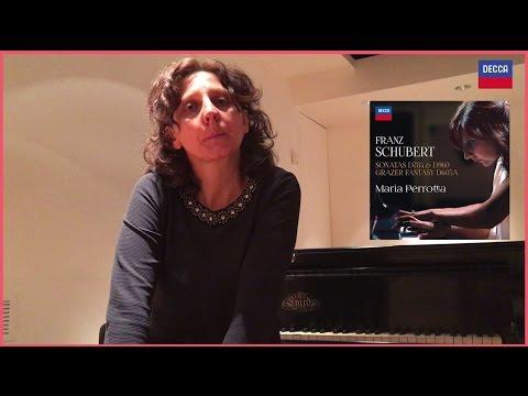 Maria Perrotta commenta il suo cd schubertiano (Decca, 2017)