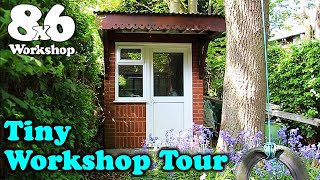 8x6 Tiny Workshop Tour - Much requested walk around of my 48 square feet of woodshop hacks
