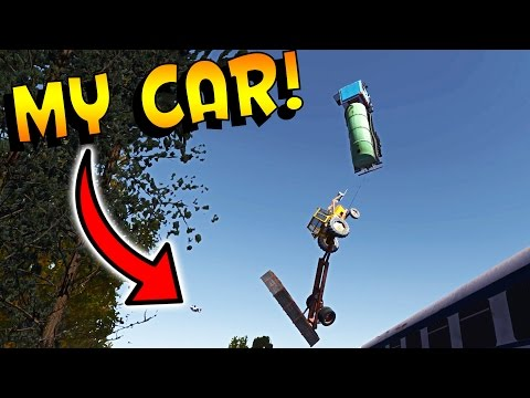 My Summer Car Gameplay | CHAIN OF CARS! LET'S STOP THIS TRAIN | Lets Play My Summer Car Game Part 11
