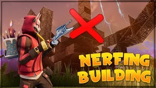 GETTING RID OF BUILDING IN FORTNITE?!..