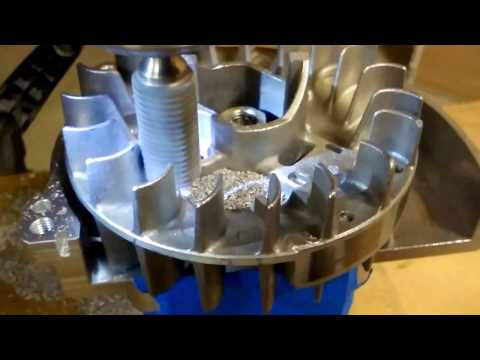 Machining & Lightening a Zenoah RC Flywheel