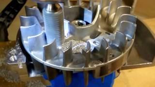 Machining & Lightening a Zenoah RC Flywheel