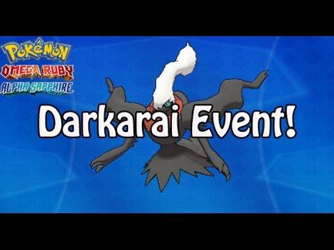 Pokemon Omega Ruby and Alpha Sapphire   Darkrai Event!