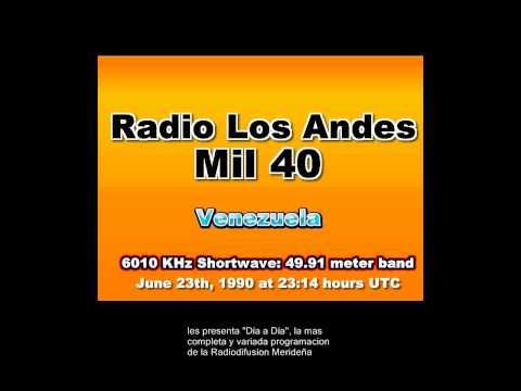 Radio Los Andes mil 40   Venezuela 6010 KHz