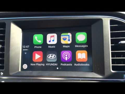 How to use Apple CarPlay 2017 Hyundai Elantra