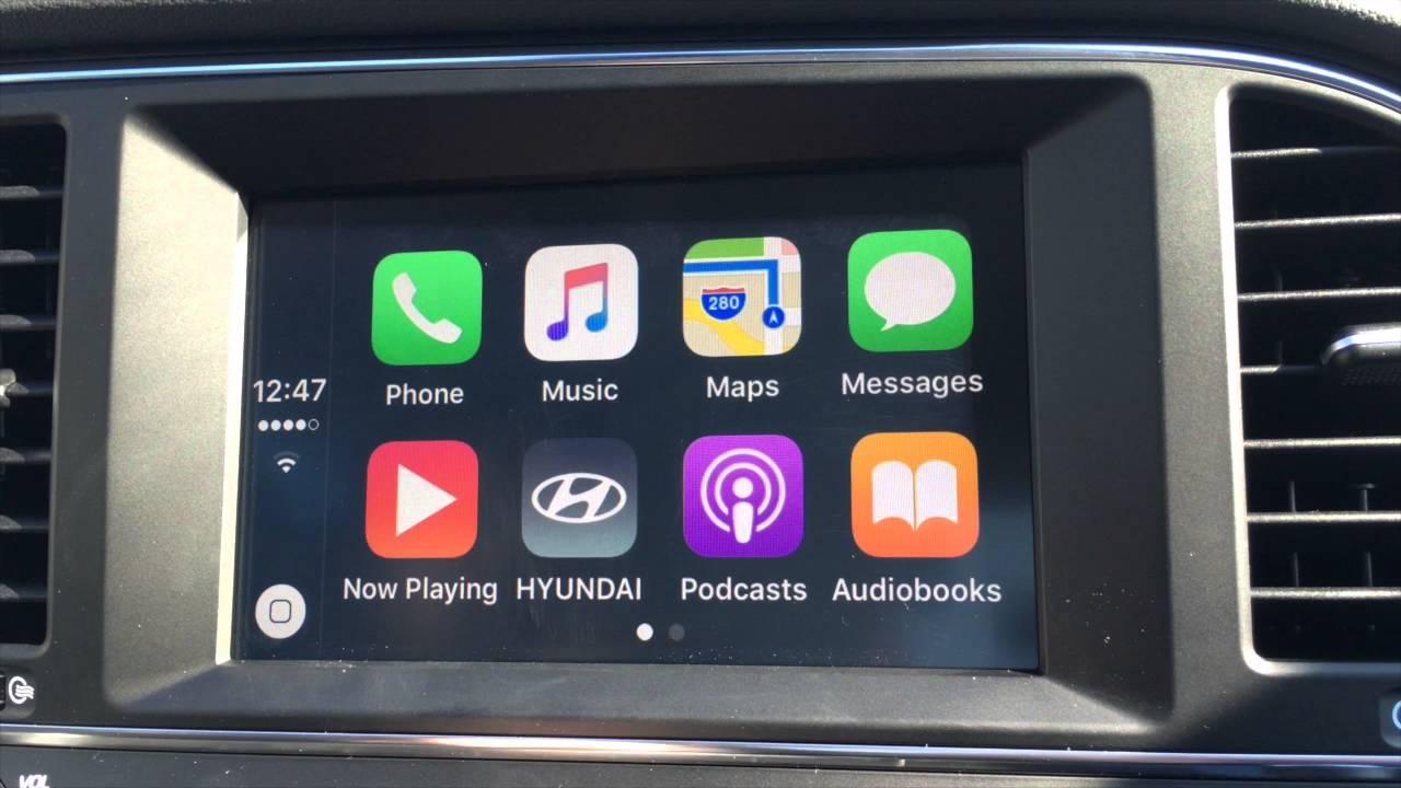 How to use Apple CarPlay - 2017 Hyundai Elantra