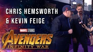 Chris Hemsworth and Kevin Feige Live at the Avengers: Infinity War Premiere
