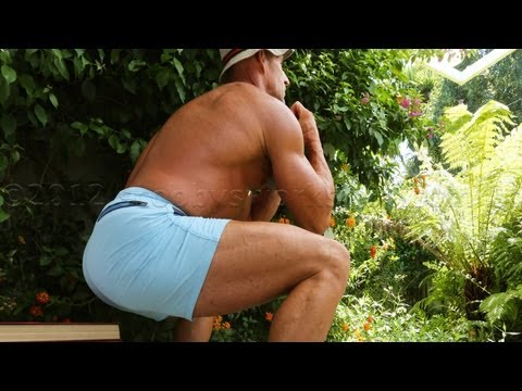 Goblet Chair Squats - Home Leg Workout