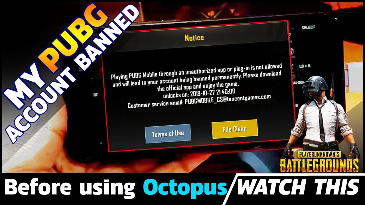 PUBG Account Banned | Before using octopus app, you must watch this