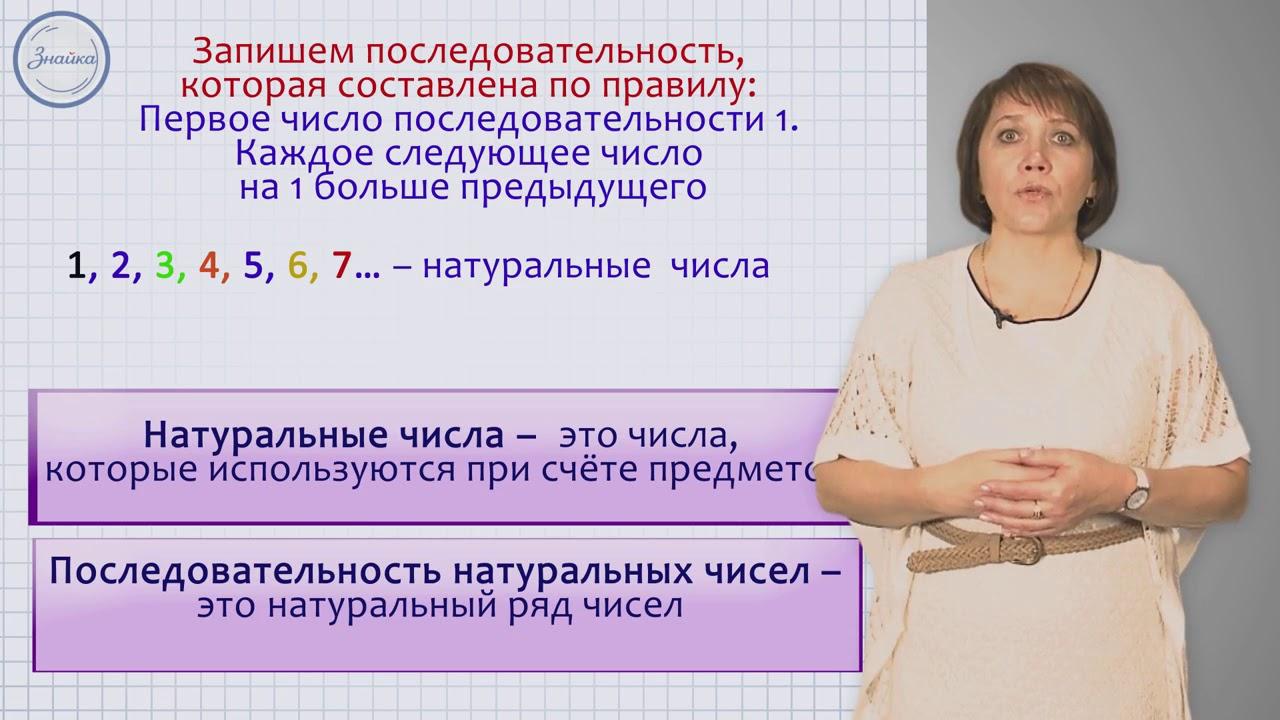 Натуральный ряд и другие числовые последовательности