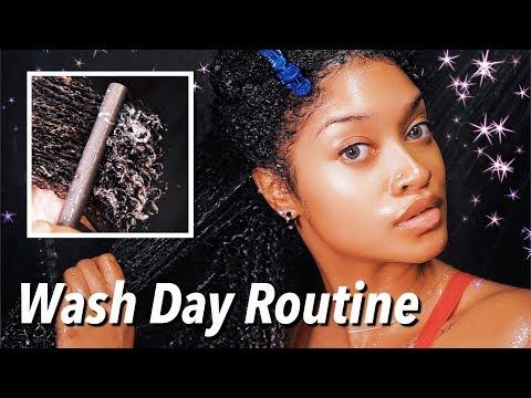 Wash Day Routine + Detangling   Bri Hall (Vlogmas Day 4)