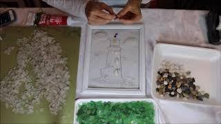 5 Minute Sea Glass Mosaic
