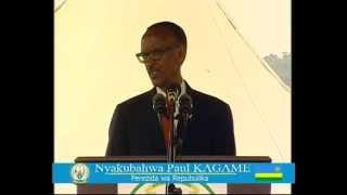 president kagame addressing residents of kinyinya during 19th liberation day rwanda 4 july 2013