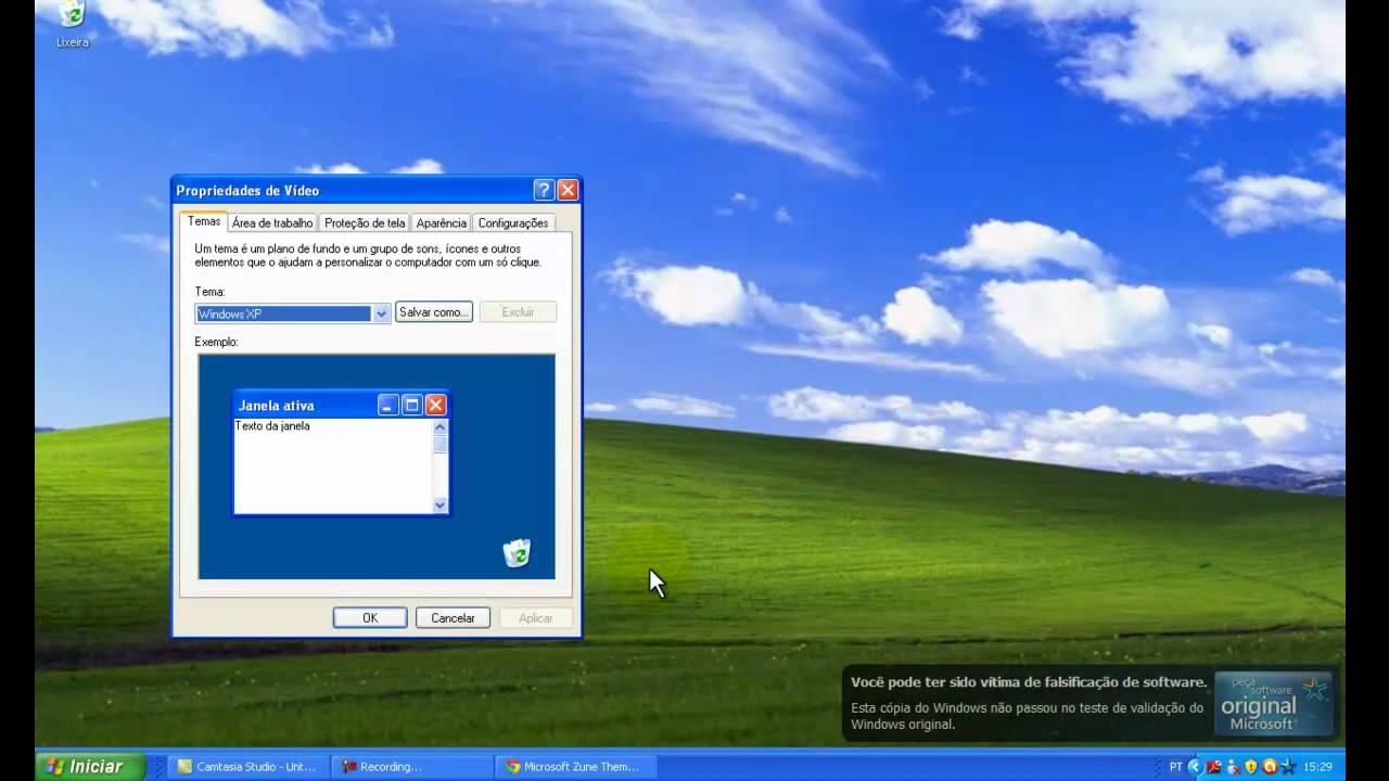 barra de tarefas do windows xp preta