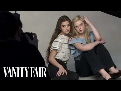 Hailee Steinfeld & Elle Fanning - On Set At Their Vanity Fair Hollywood Issue Cover Shoot