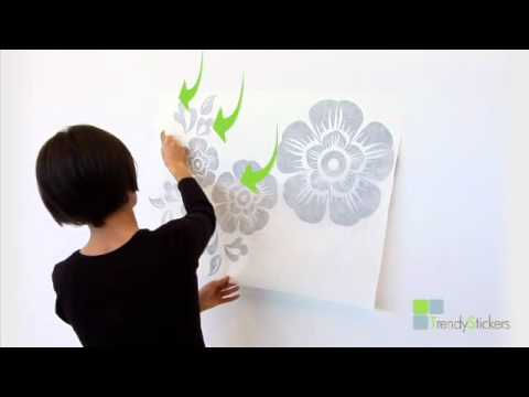 apply fast and easy a wall sticker - Design A Wall Sticker