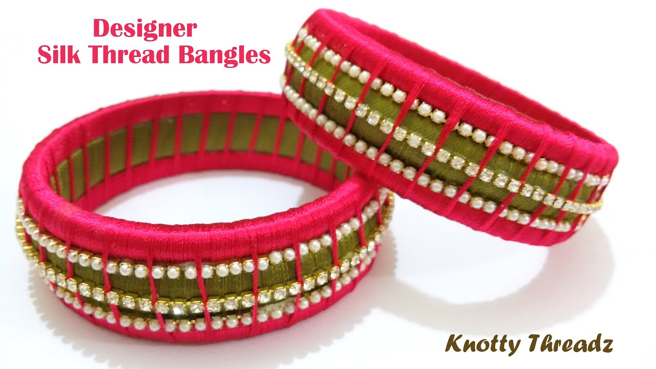 bangles silk red products handicrafts khushi