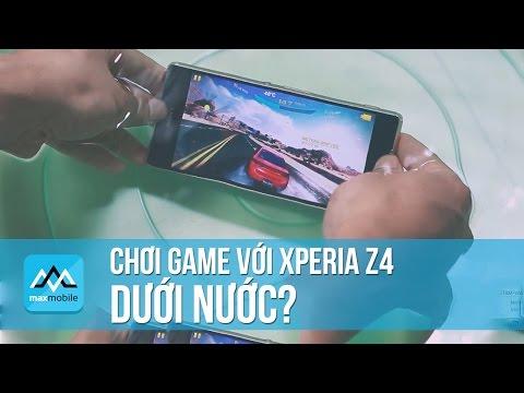 Chơi game và cảm ứng dưới nước với Xperia Z4