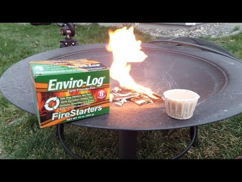 "Enviro-Log Firestarters ""Makes starting a fire almost way to easy"""