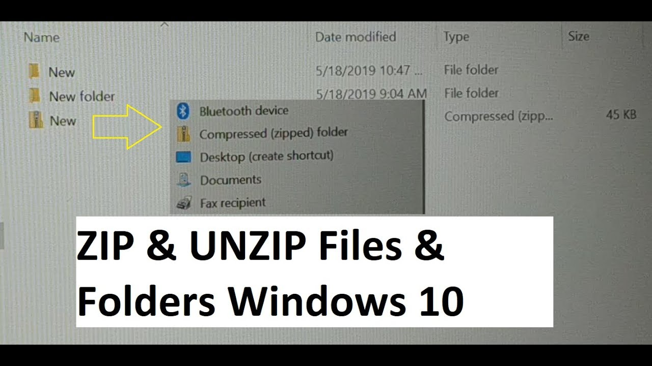 how to ZIP files and folders in windows 10, Extract, open Zip files and  folders in windows 10