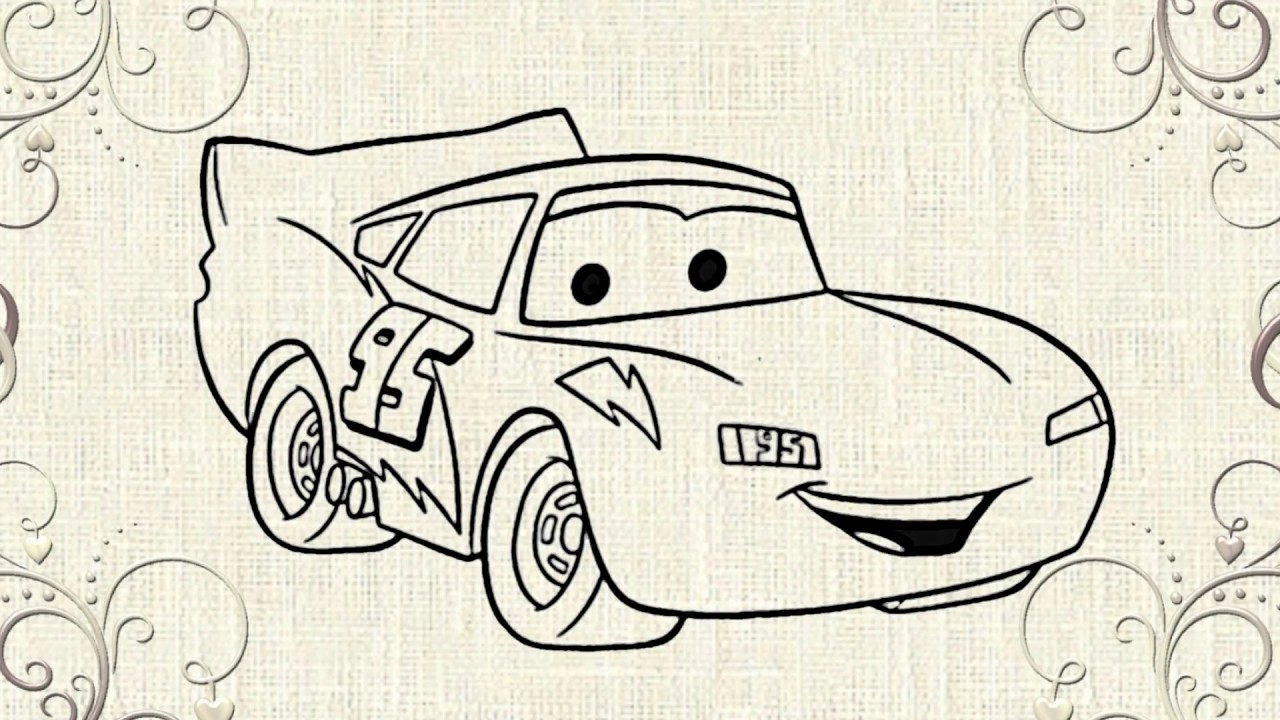 How to draw Lightning Mcqueen from CARS - YouTube
