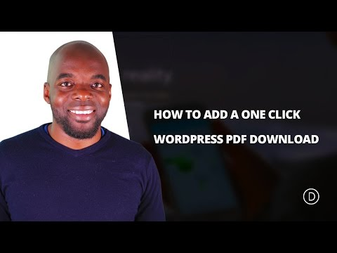 How To Add A One Click WordPress PDF Download Using Divi