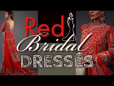 Fashionable Red Pakistani Designer Bridal Wear - Pakistani Wedding Dresses Replica - 동영상