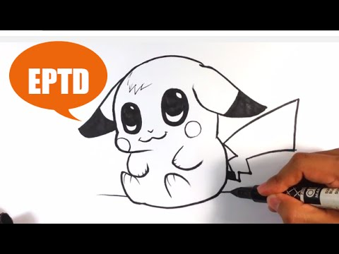 How to Draw Baby Pikachu - Easy Pictures to Draw
