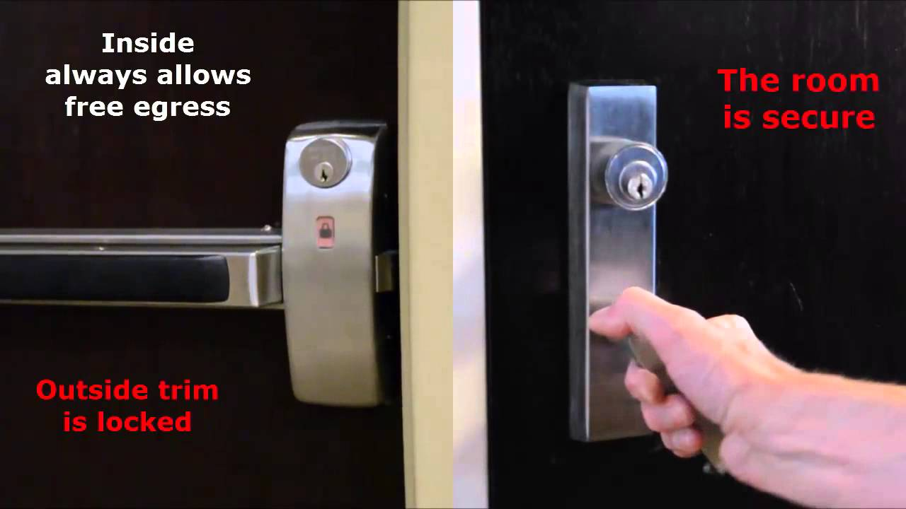 Sargent Classroom Security Exit Device With Lock Unlock