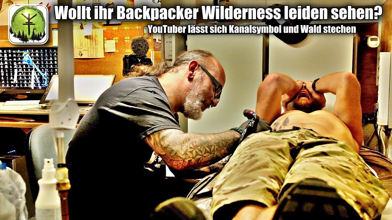 Wollt ihr Backpacker Wilderness leiden sehen? YouTuber lässt sich Kanalsymbol & Wald stechen