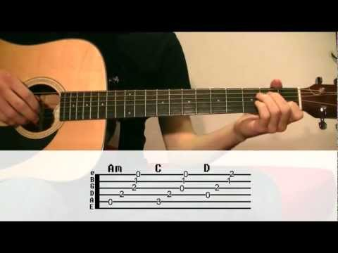 Guitar Lesson: Johnny Cash - Hurt / With tabs, Eng/Spa Subtitles