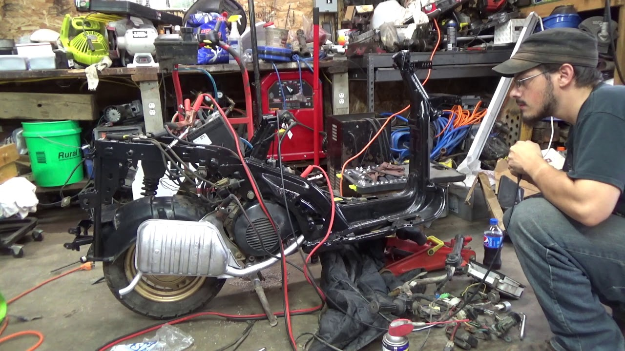 hight resolution of 1984 yamaha riva 180 rebuild least get it started pt9