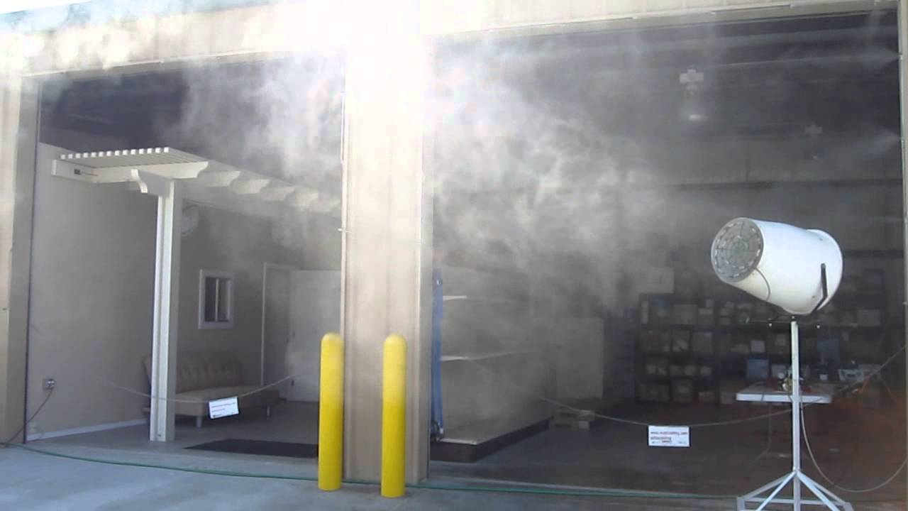 Commercial Mister Systems : Industrial fan misting warehouse youtube
