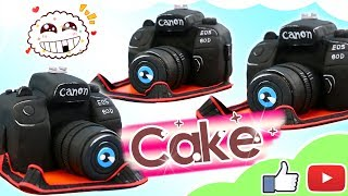How To Make 3D Camera Birthday Cake Step By Step | Canon Camera Cake Recipe