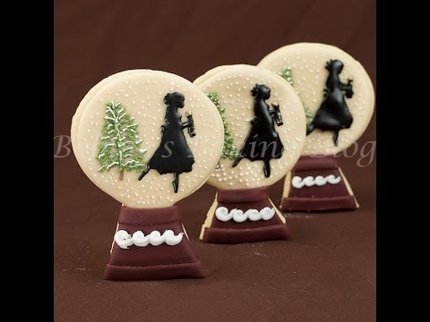 Nutcracker Snow Globe Sugar Cookies