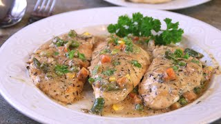 Aromatic Creamy Herb Chicken in 30 Minutes