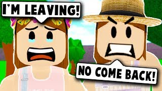 MY BABY RAN AWAY FROM HOME! (Roblox Bloxburg) Roblox Roleplay
