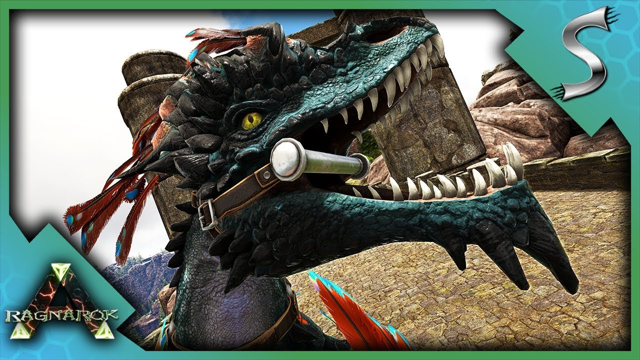 USING A ROCK DRAKE ON RAGNAROK! - Ark: RAGNAROK [DLC Gameplay E97]
