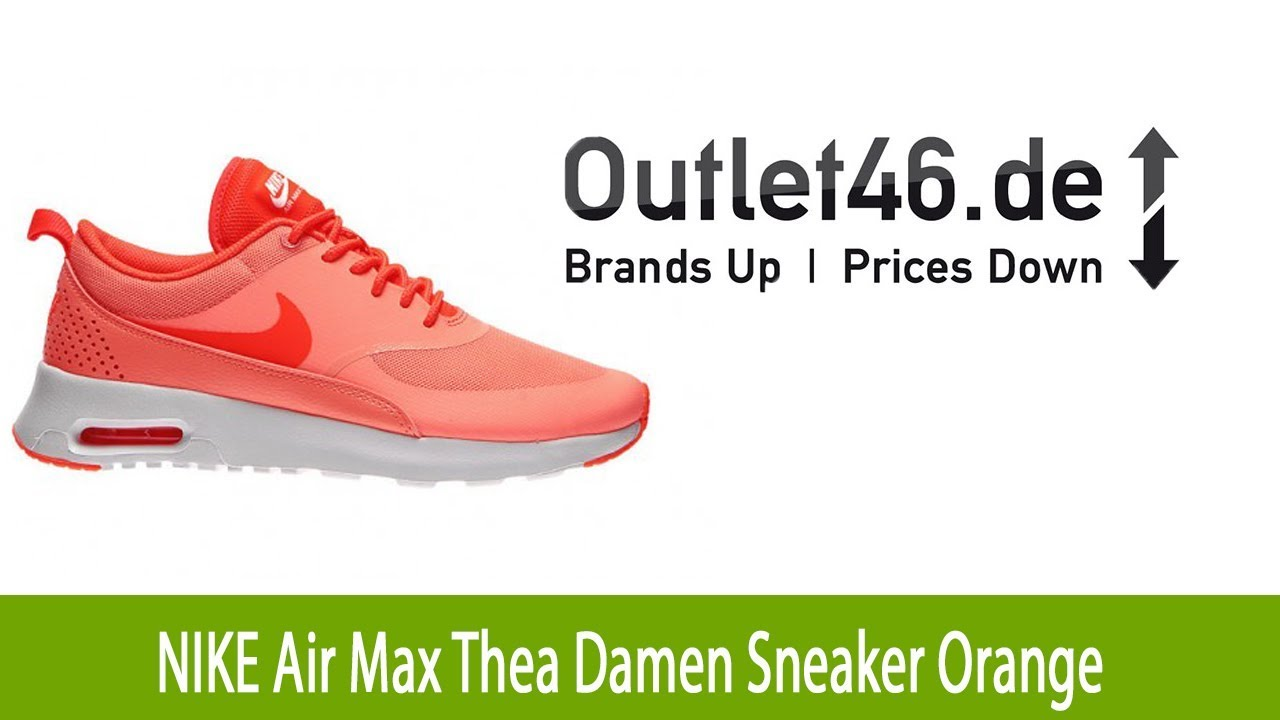 uk store top quality new appearance Modischer NIKE Air Max Thea Damen Schuh Sneaker Orange l Outlet46.de